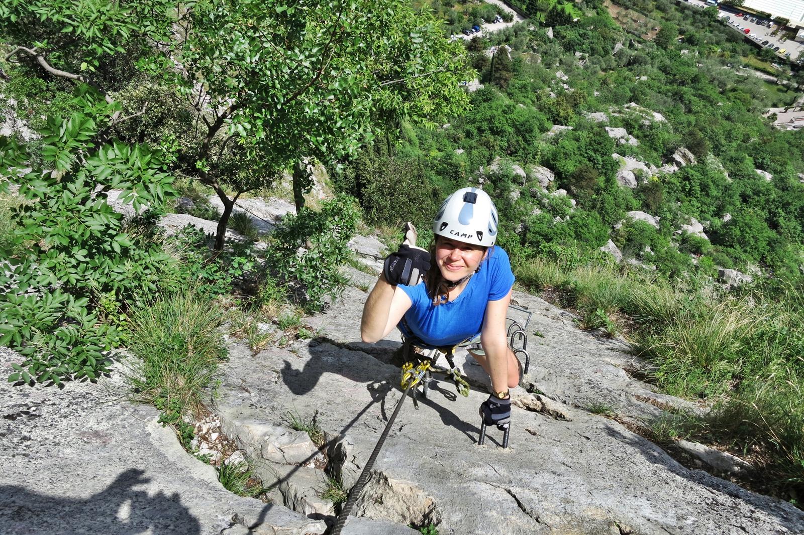 Klettersteig Via Ferrata : Cornillon via ferrata near aix les bains lake perfect for beginners