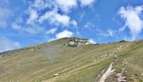 Kurz vor dem Gipfel am Monte Stivo