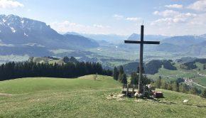 Tolle Aussicht vom Karkopf aus Kaiser & Inntal